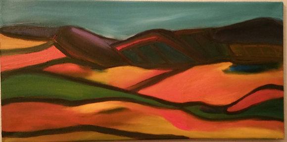Hilly landscape 12 x 24