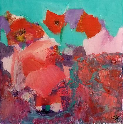 Poppy Pixies 10 x 10
