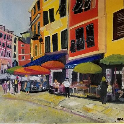 Village Street 16 x 16