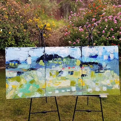 3 piece - Landscape in nature 54 x 24