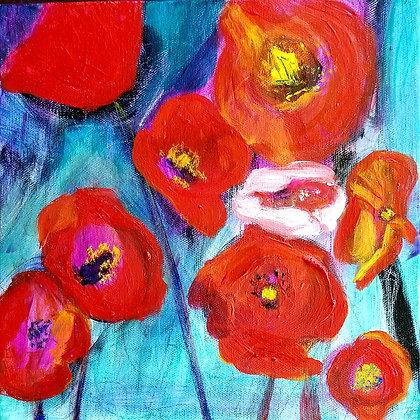 Poppies 10 x 10