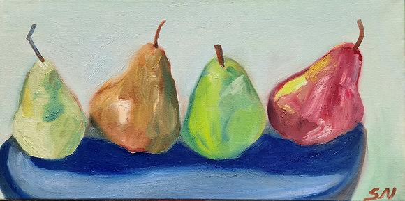 Four pears 10 x 20