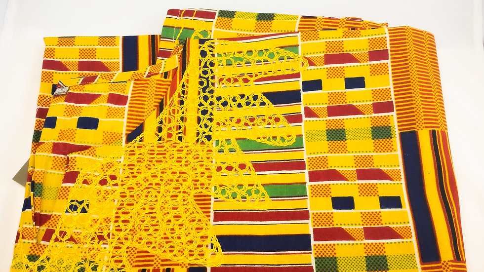 Traditional Kente Pattern Dashiki W/Hat