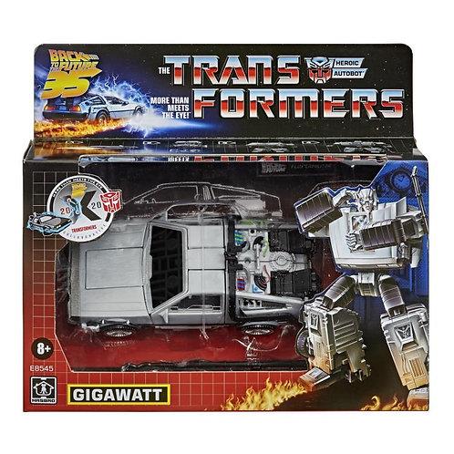 Transformers x Back to the Future Collaborative Generations Gigawatt