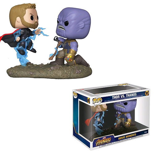 Avengers 3: Infinity War - Thor vs Thanos Movie Moment Pop! Vinyl