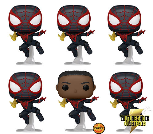 Spider-Man: Miles Morales - Spider-Man Pop! Vinyl - Chase Bundle