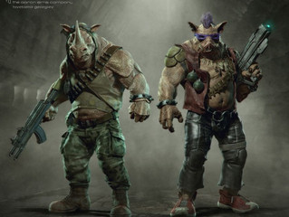Teenage Mutant Ninja Turtles: Bebop, Rocksteady And Krang Concept Art