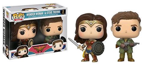 Wonder Woman Movie - Wonder Woman & Steve Trevor US Exclusive Pop! Vinyl 2-pack