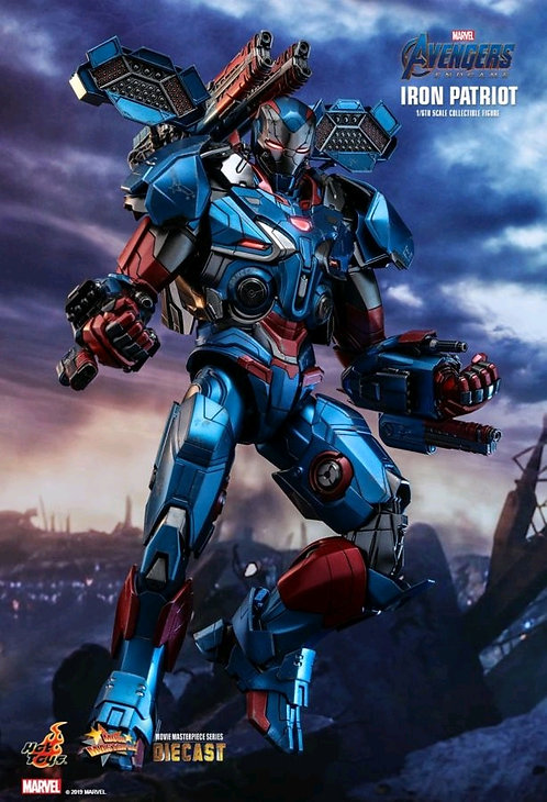"Avengers 4: Endgame - Iron Patriot Diecast 1:6 Scale 12"" Action Figure"