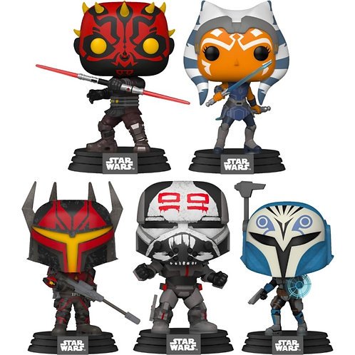 Star Wars: The Clone Wars Pop! Vinyl Bundle (Set of 5)