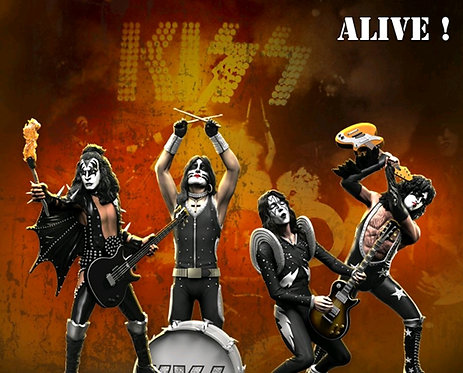 KISS - Alive Rock Iconz Statues Set of 4