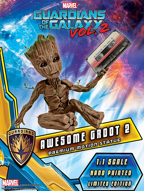 Guardians of the Galaxy Vol. 2 - Awesome Groot Premium Motion Statue