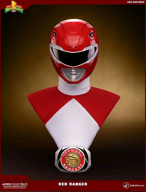Power Rangers - Red Ranger Life Size 1:1 Scale Bust