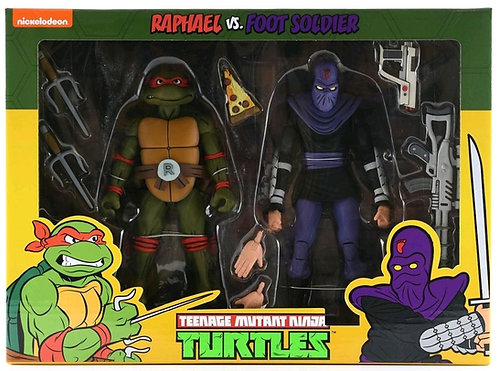 Teenage Mutant Ninja Turtles - Raphael vs Foot Soldier Action Figure 2-pack