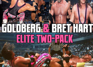 """WWE Goldberg and Bret """"Hit Man"""" Hart Elite Collection 2-Pack"""