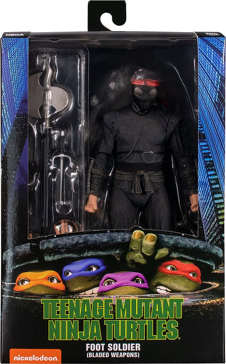"Teenage Mutant Ninja Turtles (1990) - Foot Soldier (Bladed) 7"" Action Fi"
