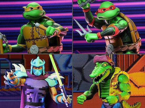 """Teenage Mutant Ninja Turtles - Turtles in Time 7"""" Series 02 (Set of 4)"""