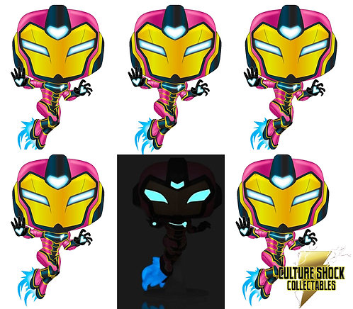 Iron Man - Ironheart US Exclusive Pop! Vinyl - Chase Bundle