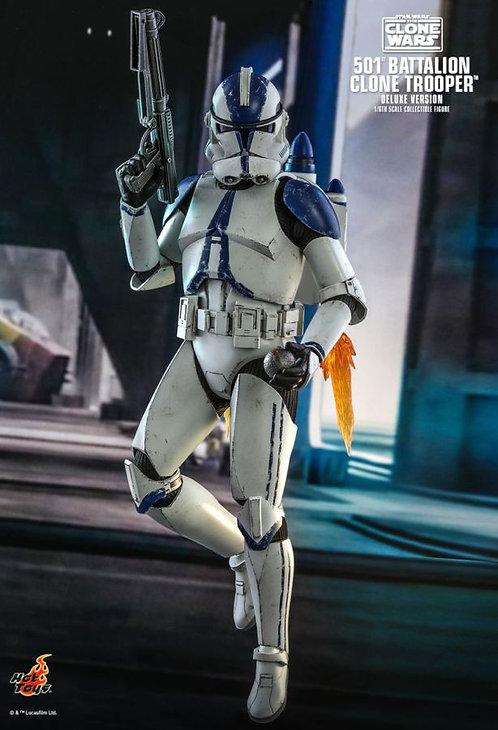 "Star Wars: The Clone Wars - 501st Battalion Clone Trooper Deluxe 12"" Figure"