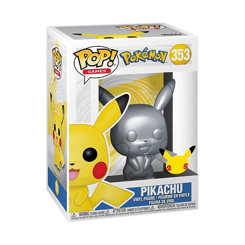Pokemon - Pikachu Silver Metallic Pop! Vinyl