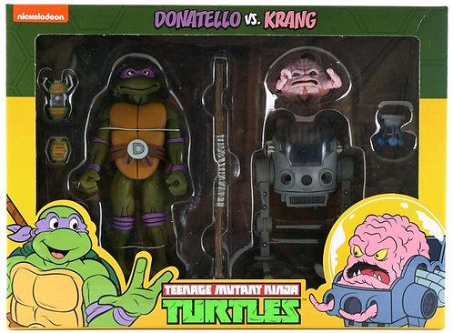Teenage Mutant Ninja Turtles - Donatello vs Krang Action Figure 2-pack