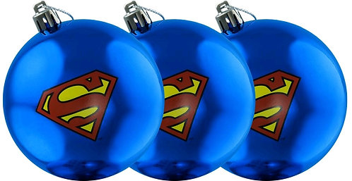Superman - Logo Christmas Bauble Ornament 3-Pack