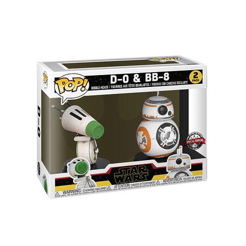 Star Wars - BB-8 & D-0 Episode IX Rise of Skywalker US Exclusive Pop! Vinyl 2-pa