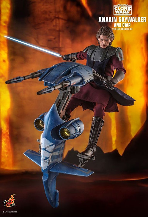 "Star Wars: Clone Wars - Anakin & STAP 1:6 Scale 12"" Action Figure Set"
