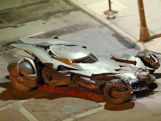 New 'Batman v Superman: Dawn of Justice' set photos give best look at the Batmobile yet