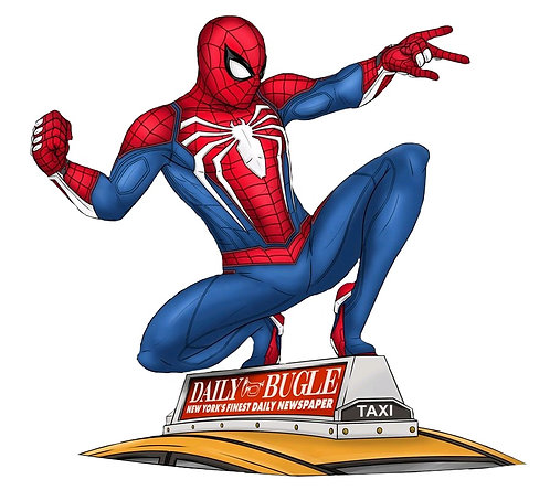 Spider-Man - Spider-Man on Taxi Gallery PVC Figure