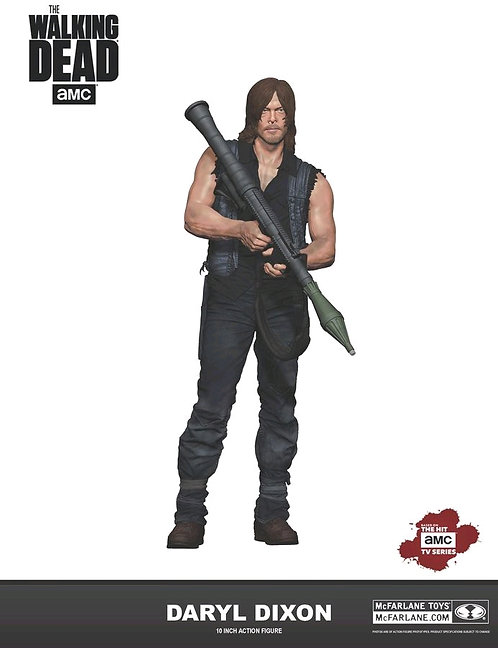 """The Walking Dead - Daryl Dixon with Rocket Launcher 10"""" Action Figure"""
