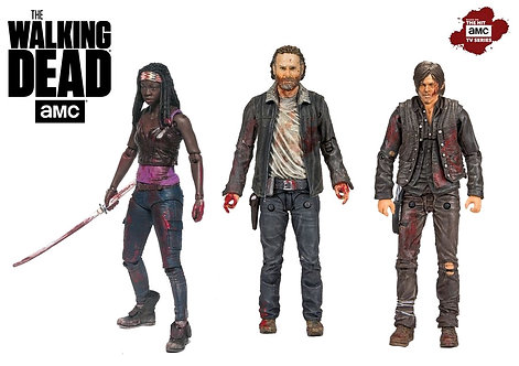 "The Walking Dead - Rick, Michonne and Daryl Hero 5"" Action Figure 3-Pack"