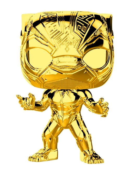 Marvel Studios 10th Anniversary - Black Panther Gold Chrome Pop! Vinyl
