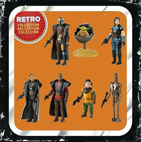 Star Wars Retro Collection The Mandalorian Wave 1 Set of 7 Figures