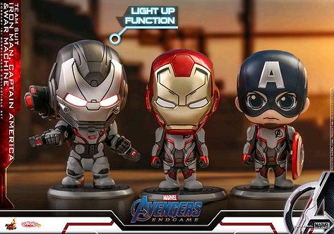 Avengers 4: Endgame - Iron Man, Captain America & War Machine Cosbaby Set