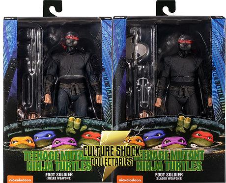 "Teenage Mutant Ninja Turtles (1990) - Foot Soldier 7"" Action Figure (Set Of 2)"