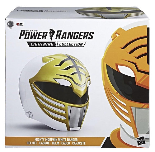 Mighty Morphin Power Rangers Lightning Collection White Ranger Helmet