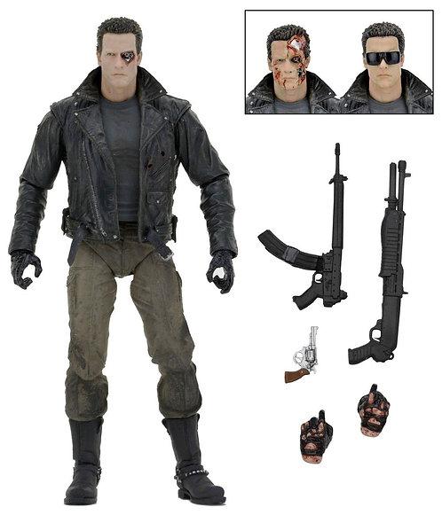 "Terminator - 7"" Police Station Assault T-800 (Motorcycle Jacket) Figure"