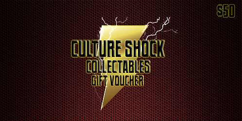 Culture Shock Collectables Gift Voucher - $50