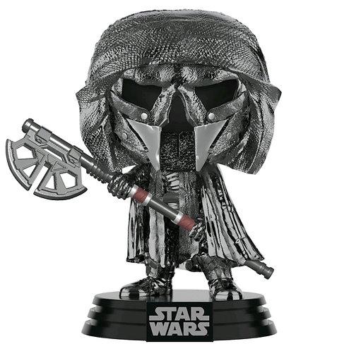 Star Wars - Knight of Ren Axe Episode IX Rise of Skywalker Hematite Chrome Pop!