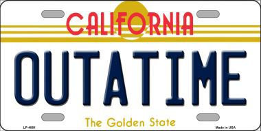 "BTTF ""OUTATIME"" California License Plate"