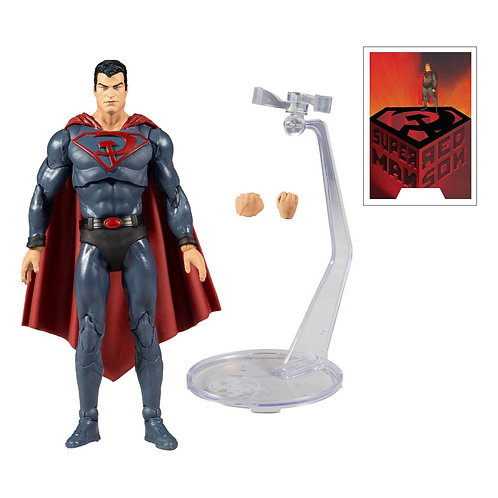 "DC Multiverse - Superman Red Son Variant 7"" Action Figure"