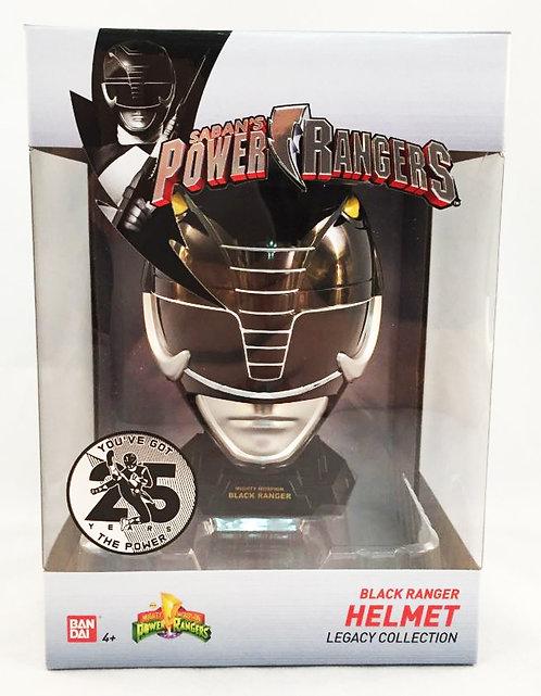 Mighty Morphin Power Rangers Legacy 1:4 Scale Helmet - Black  Ranger