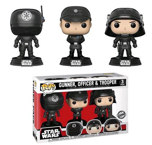 Star Wars - Death Star Gunner, Officer & Trooper US Exclusive Pop! Vinyl 3-pack