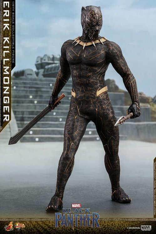 "Black Panther - Erik Killmonger 12"" 1:6 Scale Action Figure"