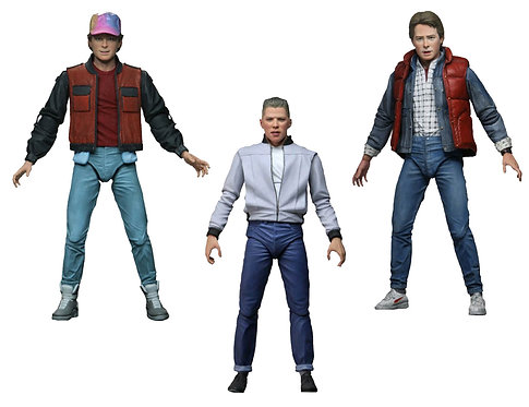 """Back to the Future - Ultimate 7"""" Action Figures (Set Of 3)"""