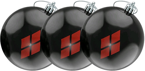 Batman - Harley Quinn Diamond Pattern Christmas Bauble Ornament 3-Pack