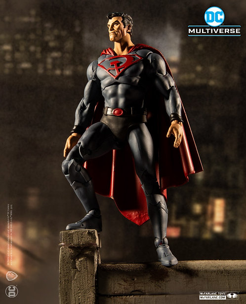 """DC Multiverse - Superman Red Son Variant 7"""" Action Figure"""