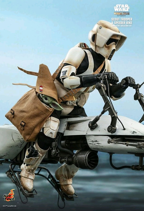 Star Wars The Mandalorian - Scout Trooper & Speeder Bike 1:6 Scale Action Figure