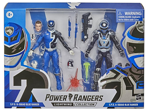 Power Rangers Lightning Collection 6-Inch S.P.D. Squad B Blue Ranger and Squad A
